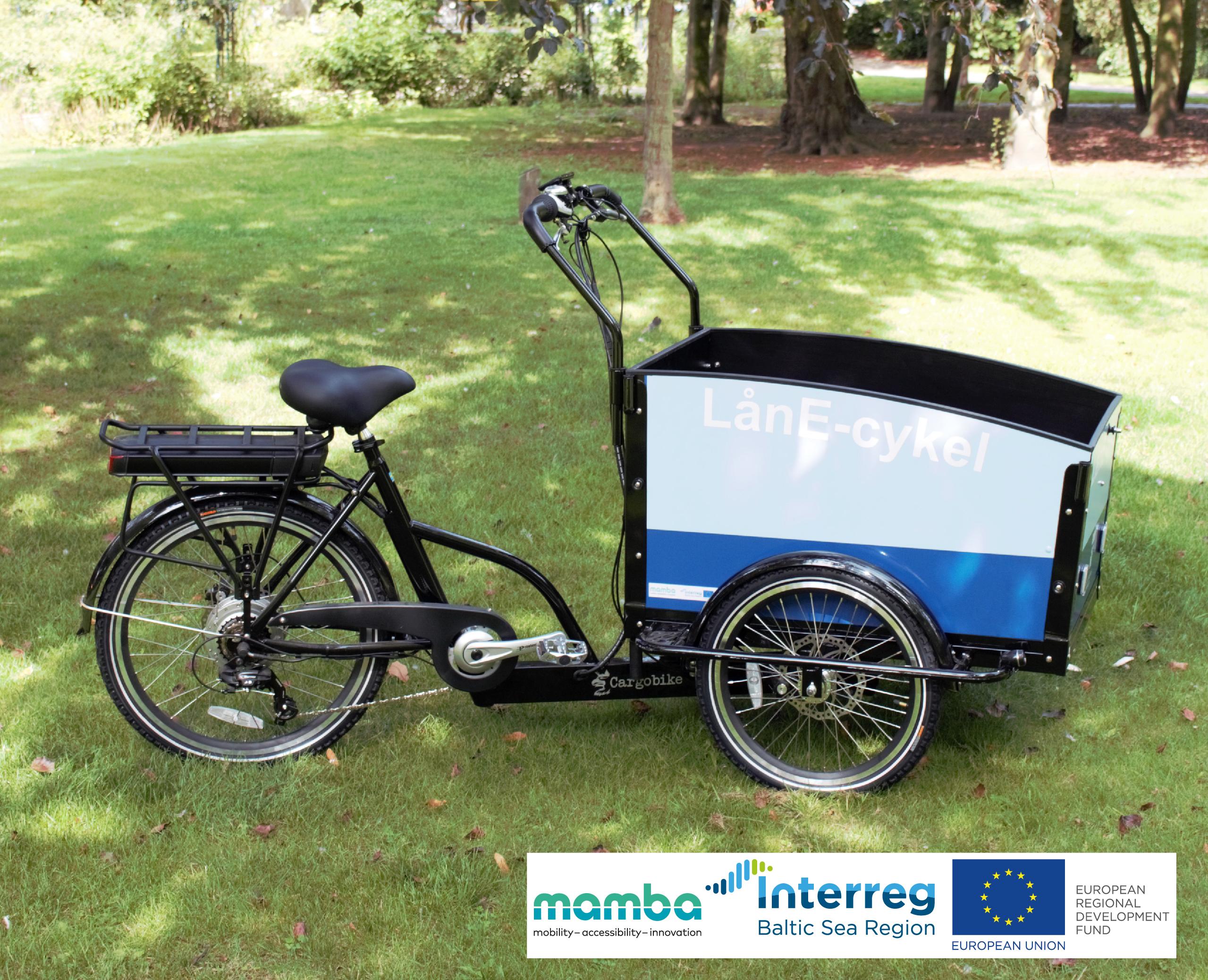 LånE-cykel - lådcykeln med elektrisk hjälpmotor